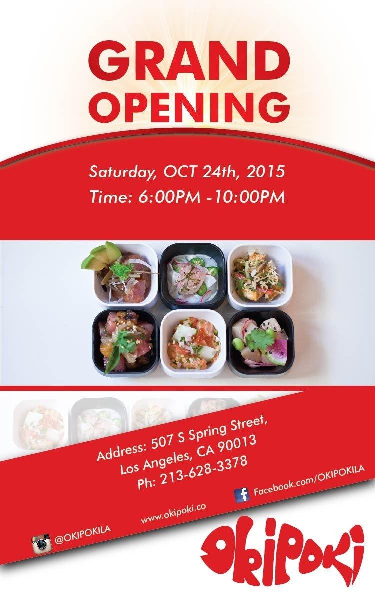 Restaurant Grand Opening Flyer Restaurant Grand Opening Flyer
