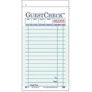Restaurant Guest Check Template Restaurant Receipt Template