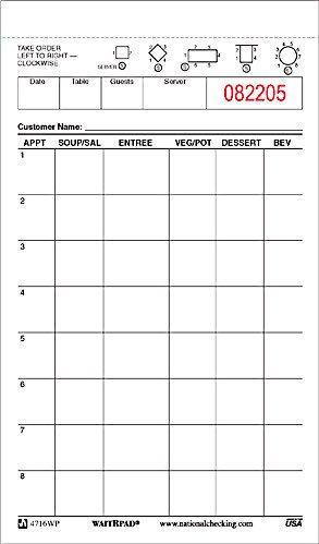 Restaurant Guest Check Template Za Restaurants order Waiter Pads From Pegasus Ventures