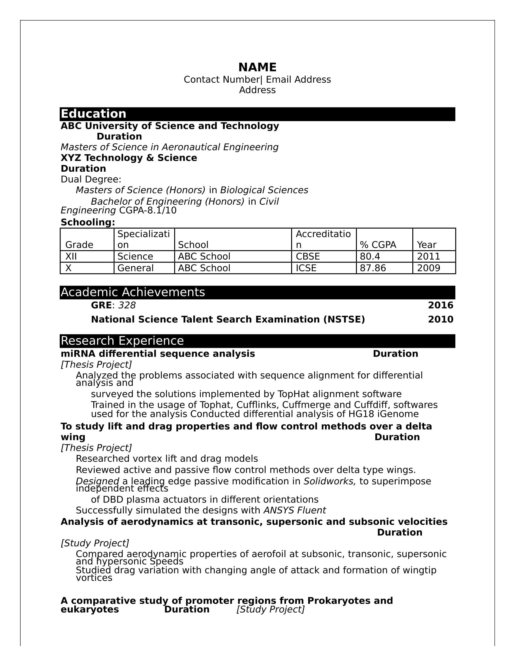 Resume Samples for Freshers 32 Resume Templates for Freshers Download Free Word format