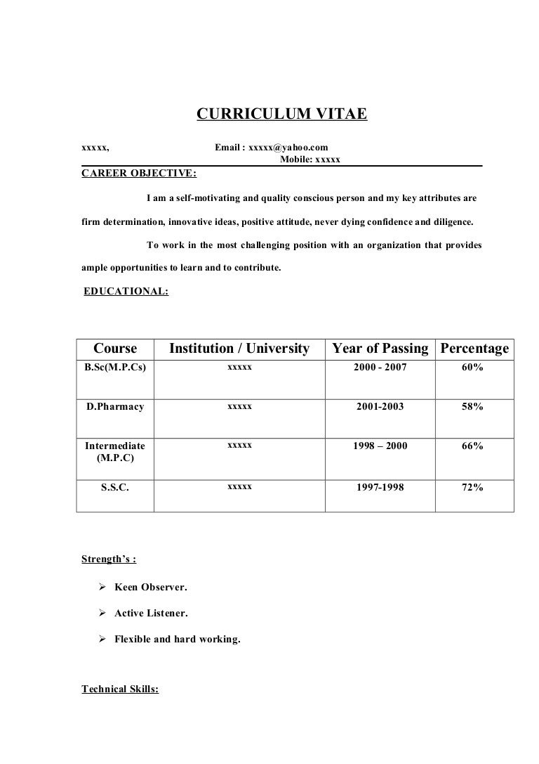 Resume Samples for Freshers Fresher Resume Sample14 by Babasab Patil