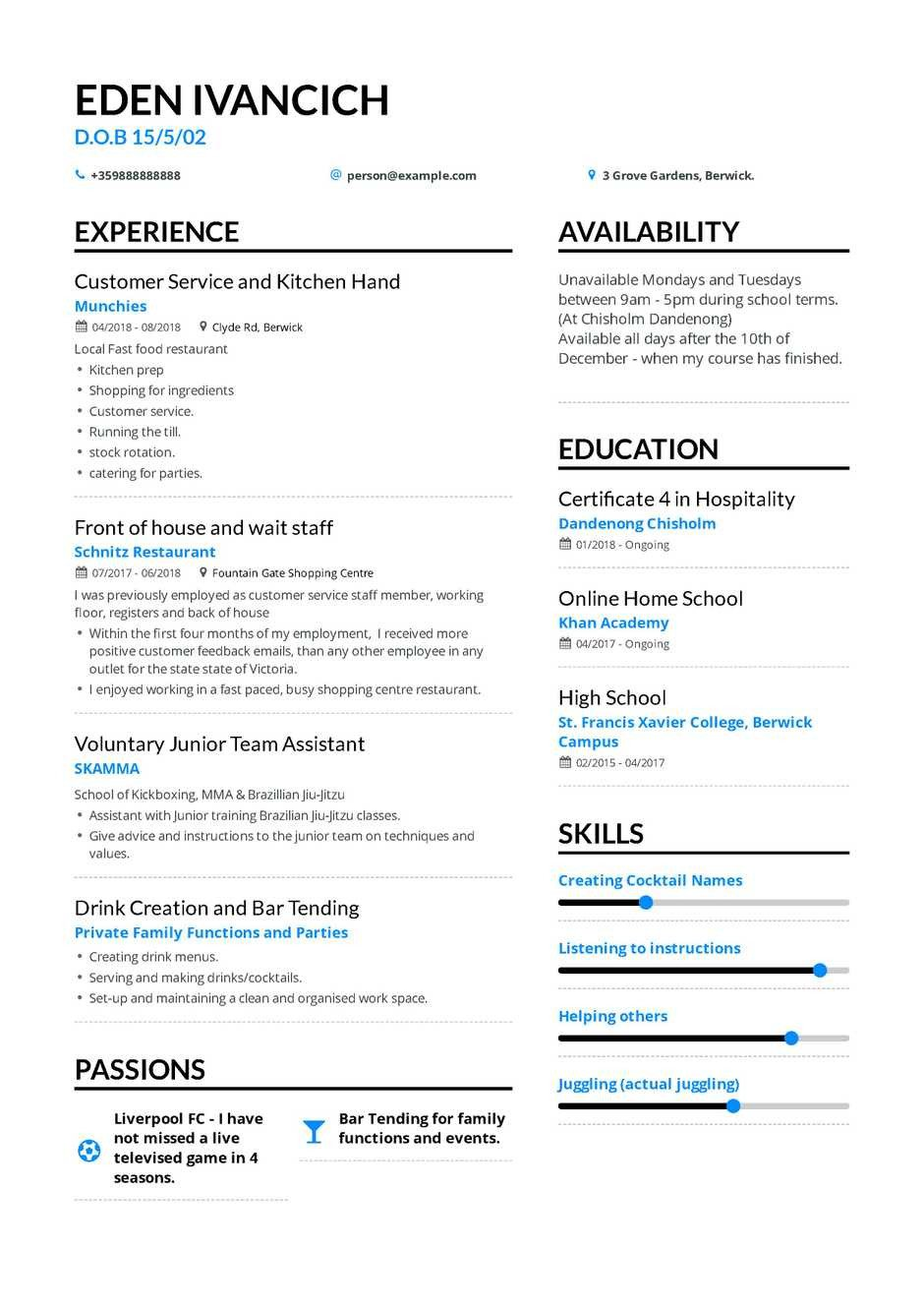 Resume Samples for Freshers the Best 2019 Fresher Resume formats and Samples