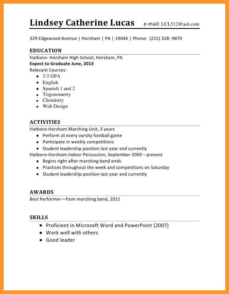 Resume Template for First Job 12 13 Resume Sample for First Time Job Seeker