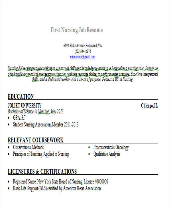 Resume Template for First Job 14 First Resume Templates Pdf Doc