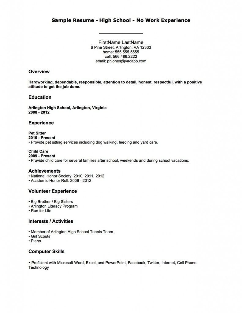 Resume Template for First Job Resume Examples after First Job after Examples First