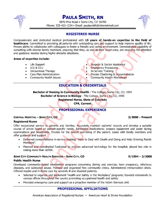 Resume Template for Nursing New Registered Nurse Resume Sample