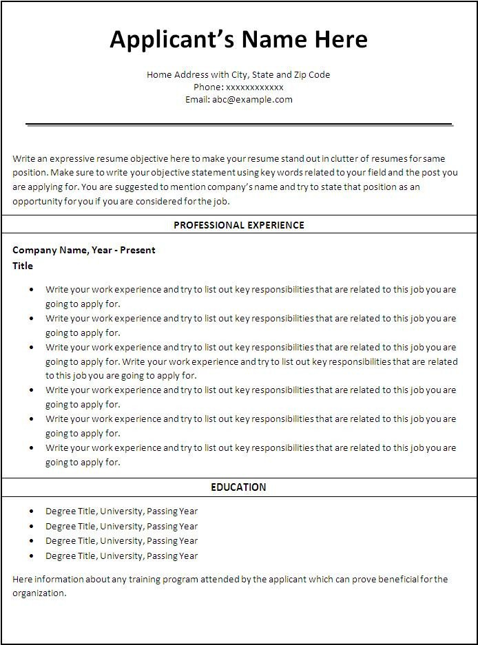 Resume Template for Nursing Nursing Resume Example