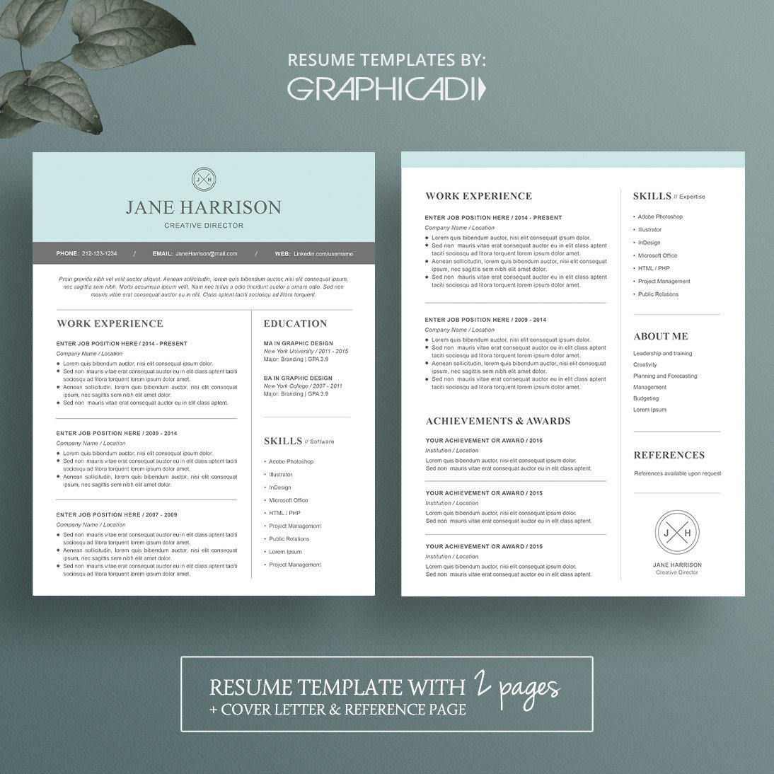 Resume Template for Pages Modern Resume Template for Microsoft Word Limeresumes