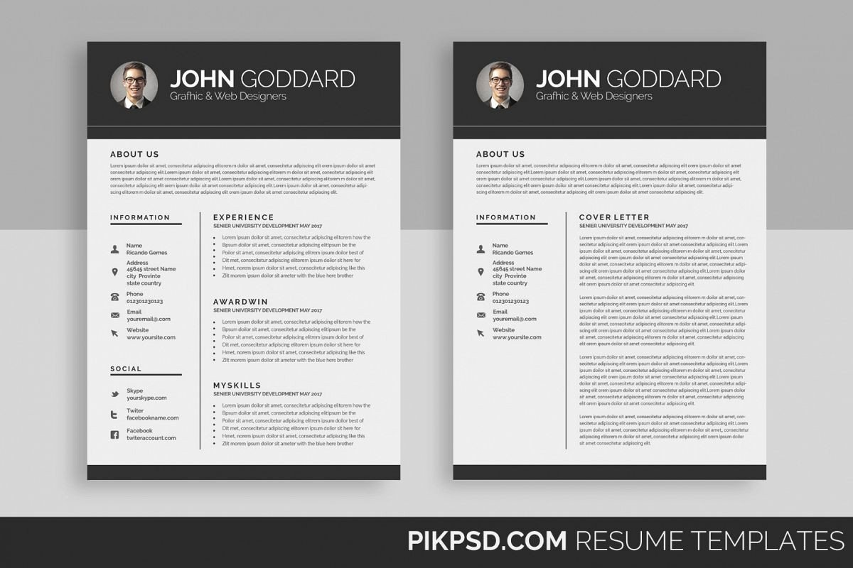 Resume Template for Pages Resume Cv 2 Page