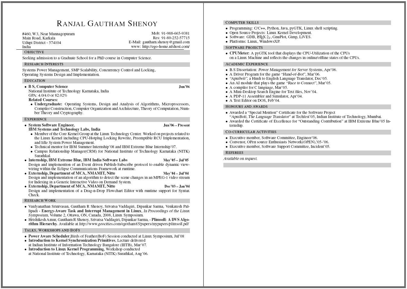Resume Template for Pages Resume Webpage and More