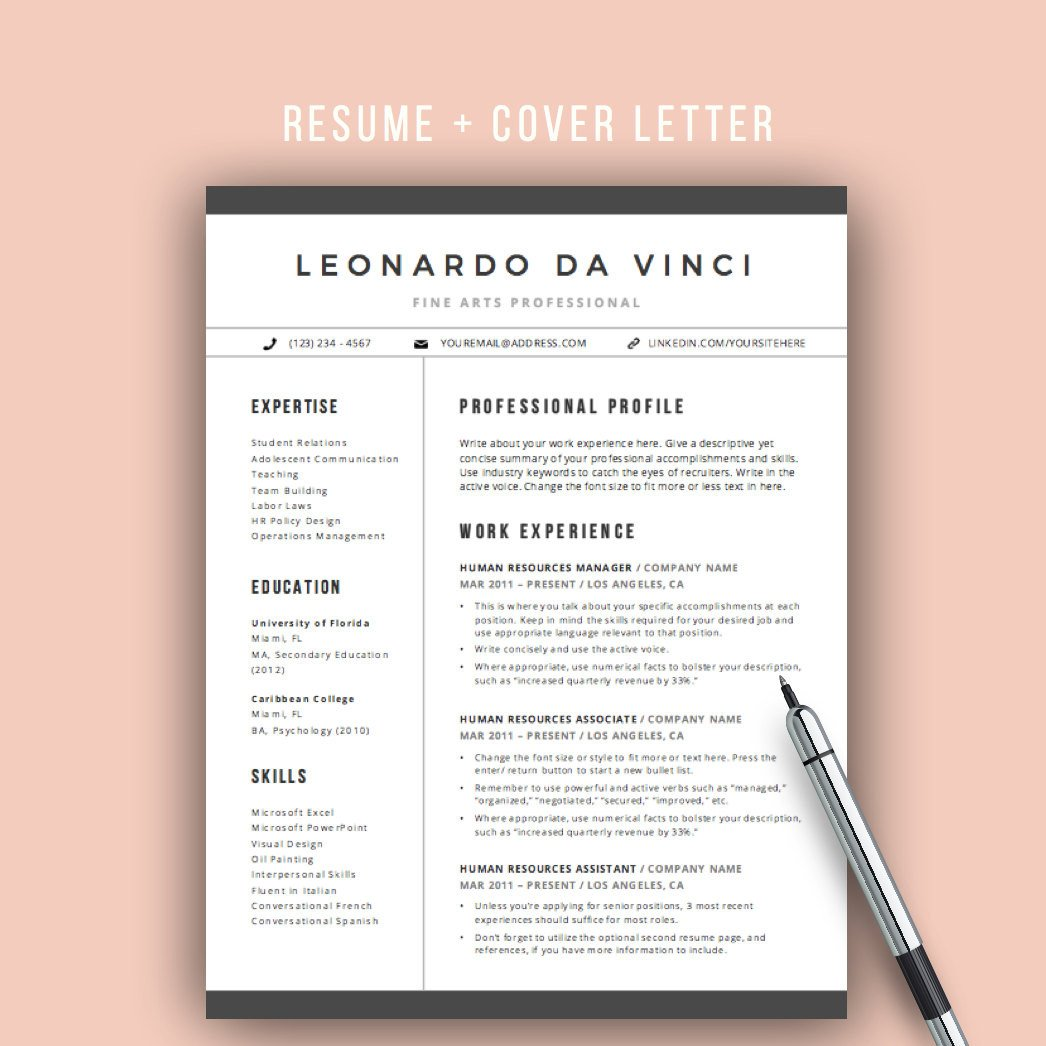 Resume Template for Pages Teacher Resume Template Word 4 Pages Resume Icons Cv