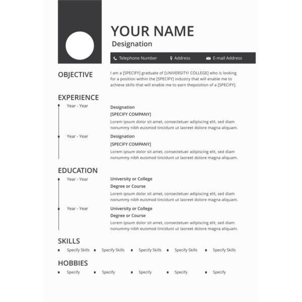Resume Template Free Download 45 Download Resume Templates Pdf Doc