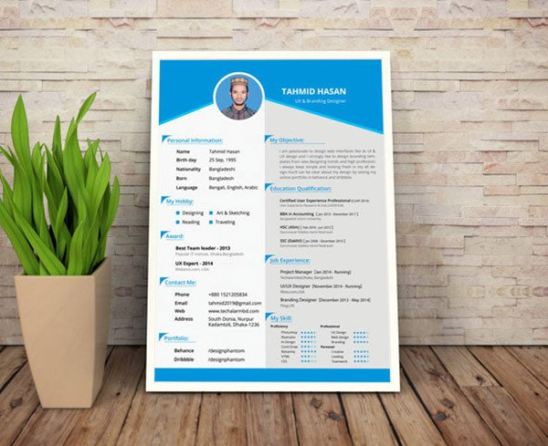Resume Template Free Download 50 Beautiful Free Resume Cv Templates In Ai Indesign