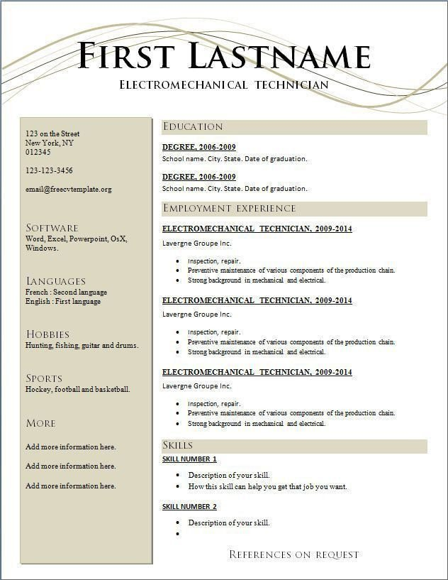 Resume Template Free Download Download Free Resume Template Resume Maker Word Free