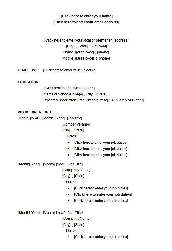 Resume Template Microsoft Word 2007 34 Microsoft Resume Templates Doc Pdf