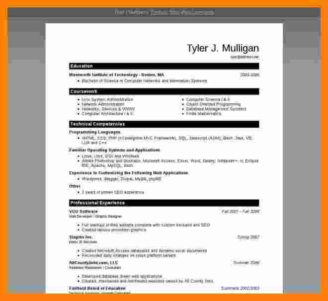 Resume Template Ms Word 2007 9 Cv format Ms Word 2007