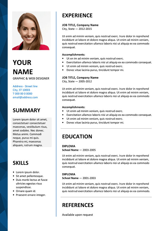 Resume Template Ms Word 2007 Dalston Free Resume Template Microsoft Word Blue Layout