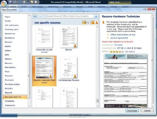 Resume Template Ms Word 2007 How Do You Find Resume Templates Microsoft Word 2007