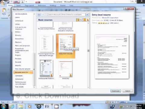 Resume Template Ms Word 2007 How to Use Resume Template In Microsoft Word 2007