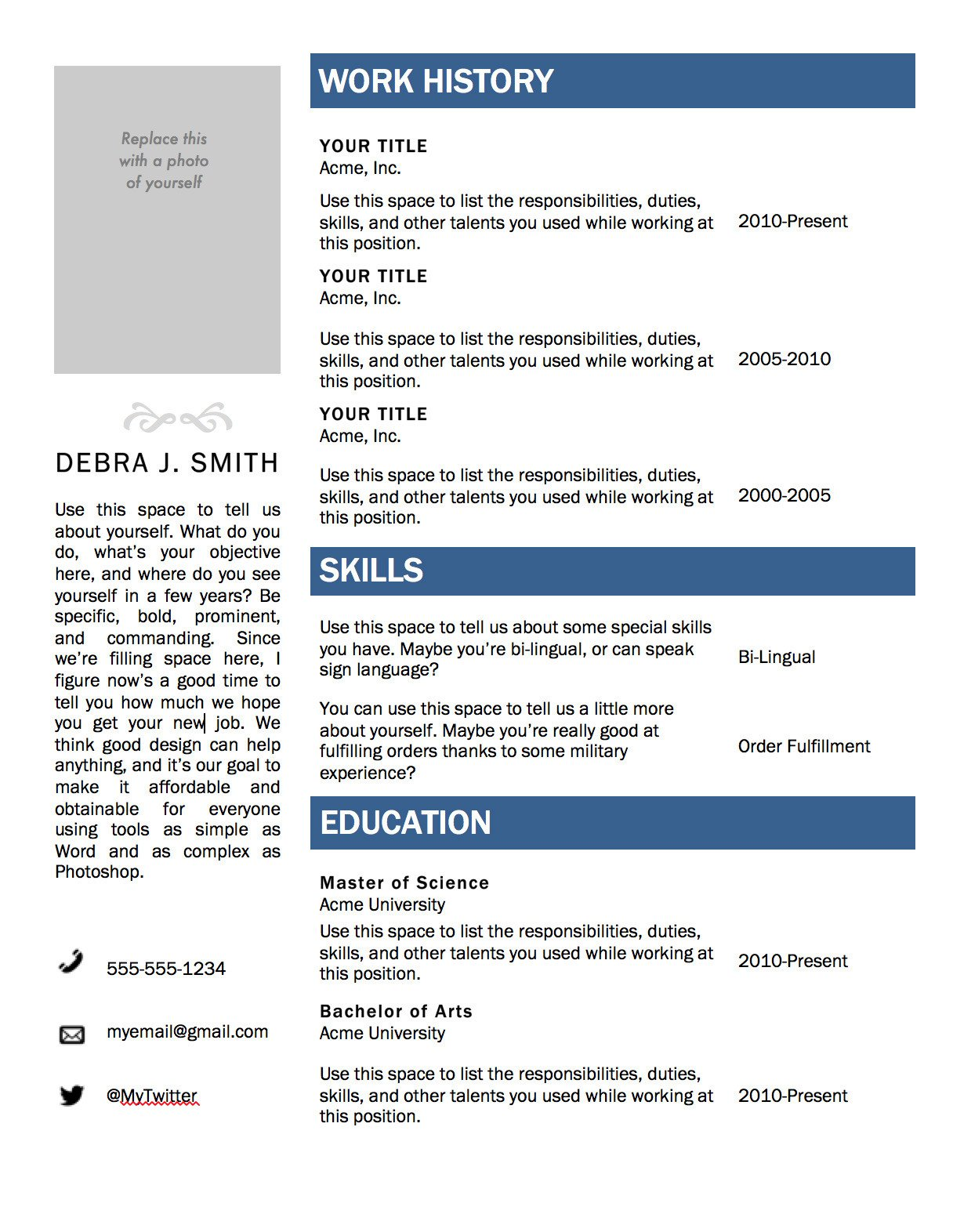 Resume Template Word Download Free Microsoft Word Resume Template — Superpixel