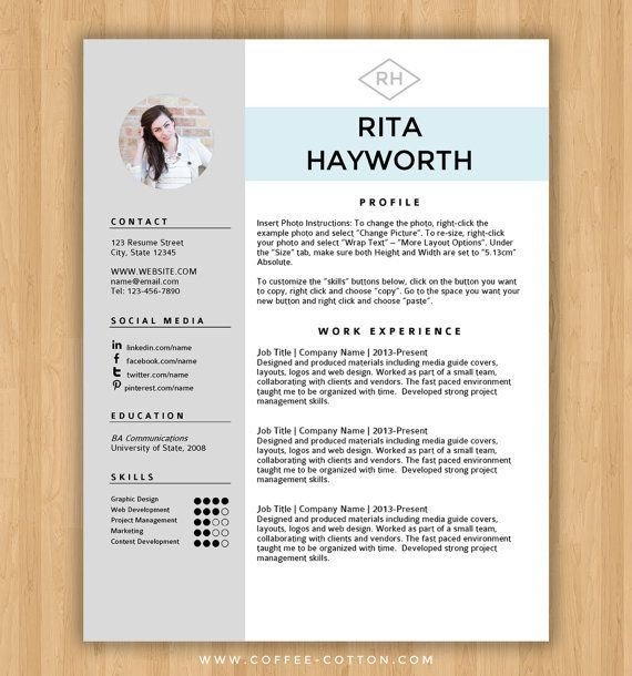 Resume Template Word Free Download Best 25 Free Cv Template Ideas On Pinterest