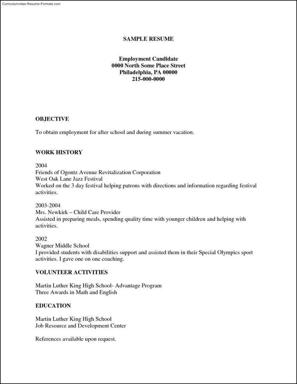 Resume Templates Free Printable Free Printable Resumes Templates