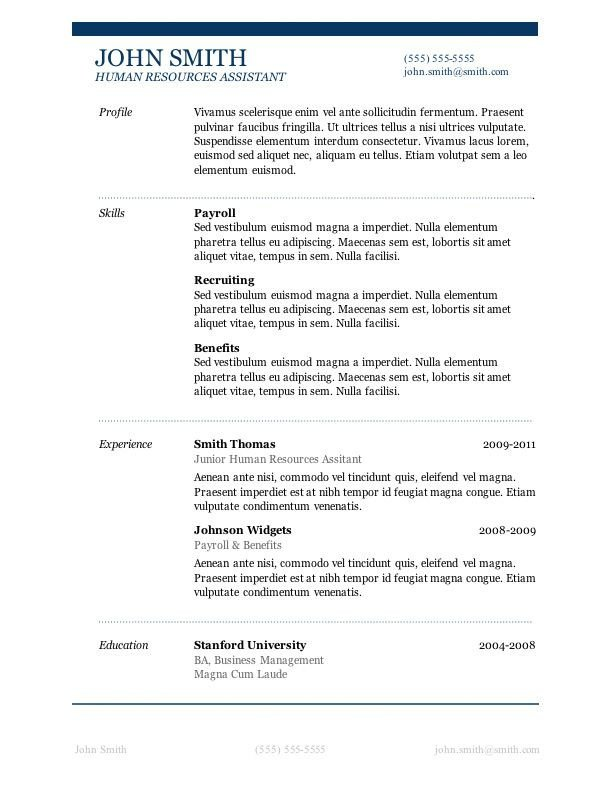 Resume Templates On Word 7 Free Resume Templates Job Career
