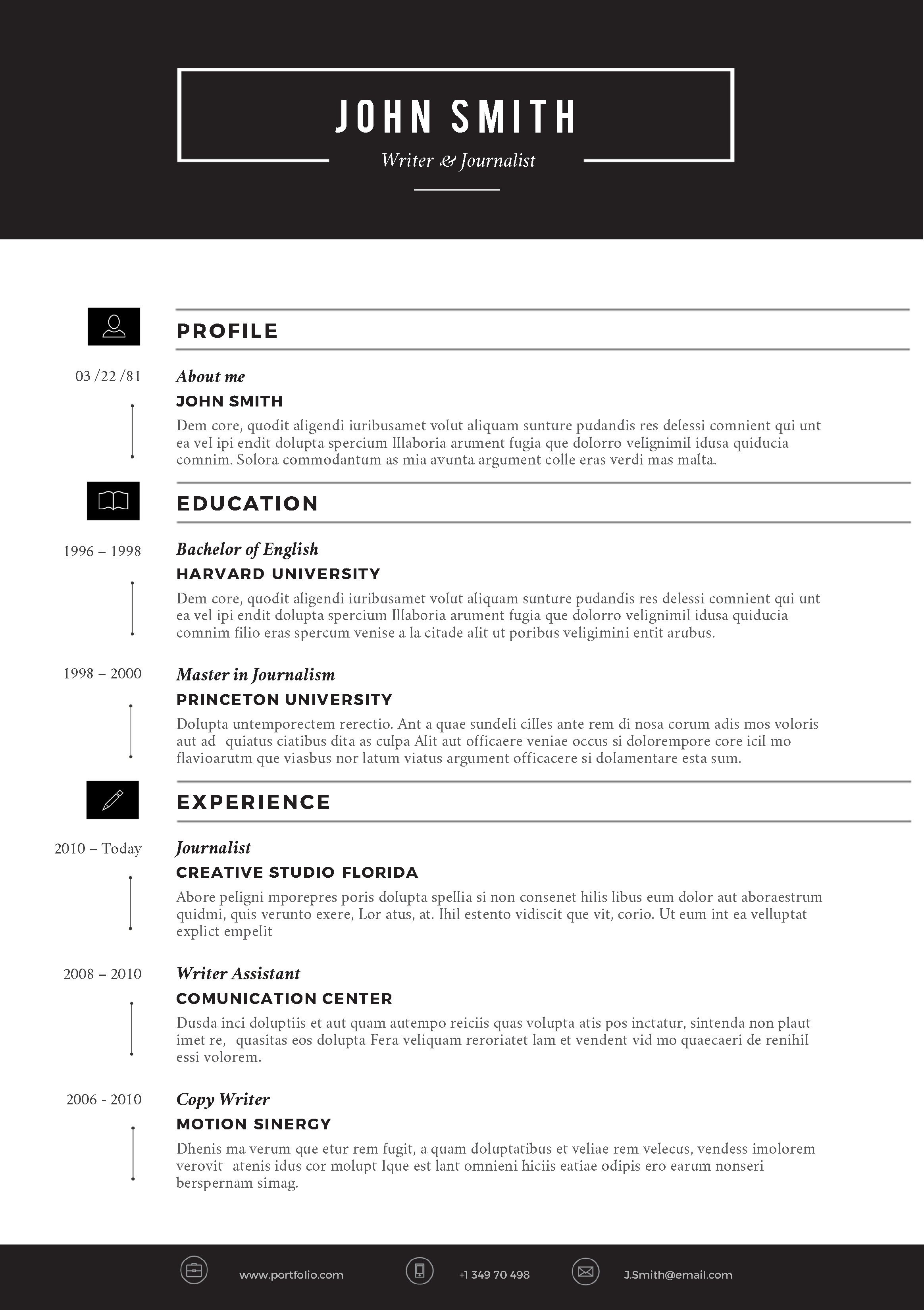 Resume Templates On Word Creative Resume Template by Cvfolio Resumes