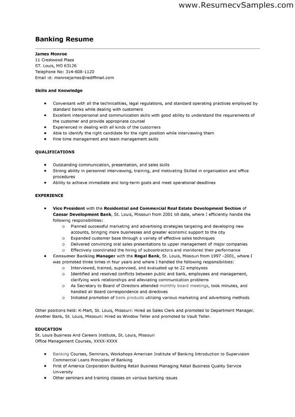 Resumes for Bank Teller Bank Teller Job Description for Resume