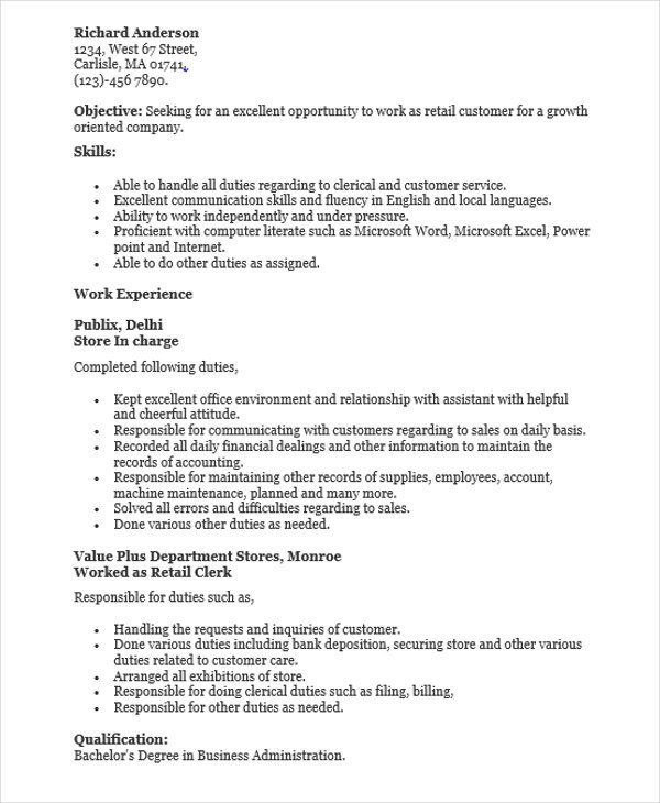 Retail Customer Service Resume 30 Sales Resume Design Templates Pdf Doc