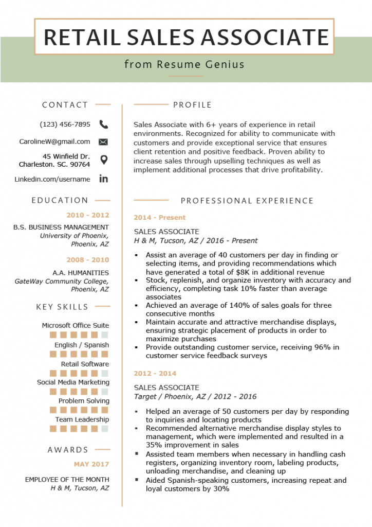 Retail Customer Service Resume Resume Examples for Retail No Experience Resumes