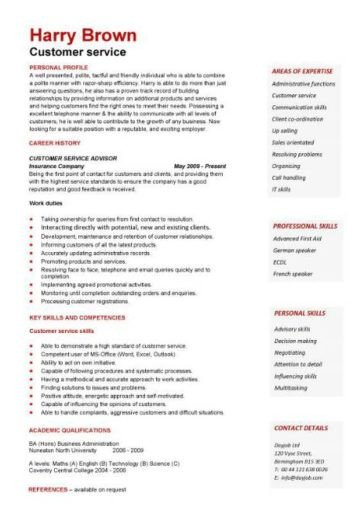 Retail Customer Service Resume Retail Cv Template Sales Environment Sales assistant Cv