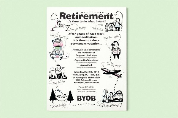 Retirement Flyer Template Free 15 Retirement Flyers Psd Vector Eps Jpg Download