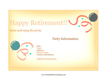 Retirement Flyer Template Free Flyer for Retirement Party