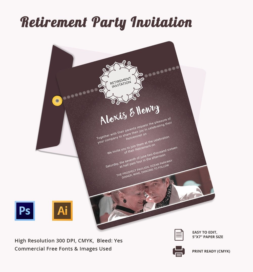 Retirement Flyer Template Free Retirement Party Invitation Template – 36 Free Psd format