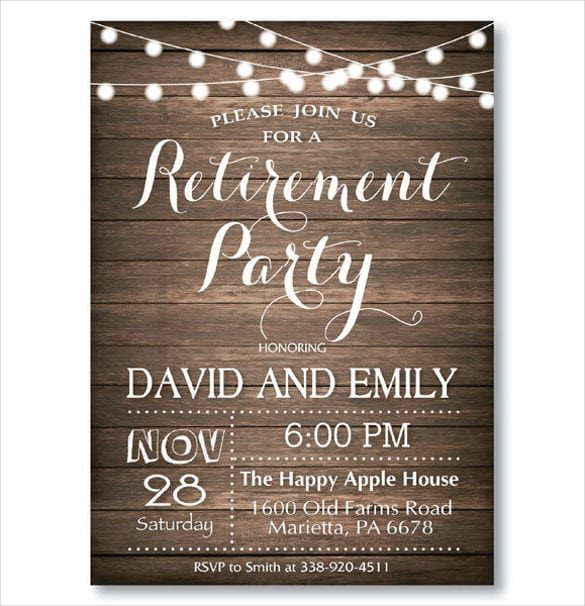 Retirement Flyer Template Free Retirement Party Invitation Templates
