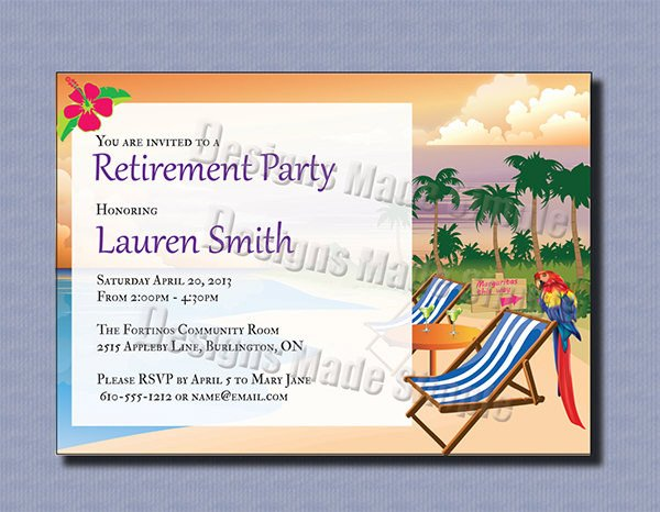 Retirement Invitation Template Free 36 Retirement Party Invitation Templates Psd Ai Word