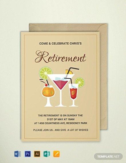 Retirement Invitation Template Free Free Printable Retirement Party Invitation Template
