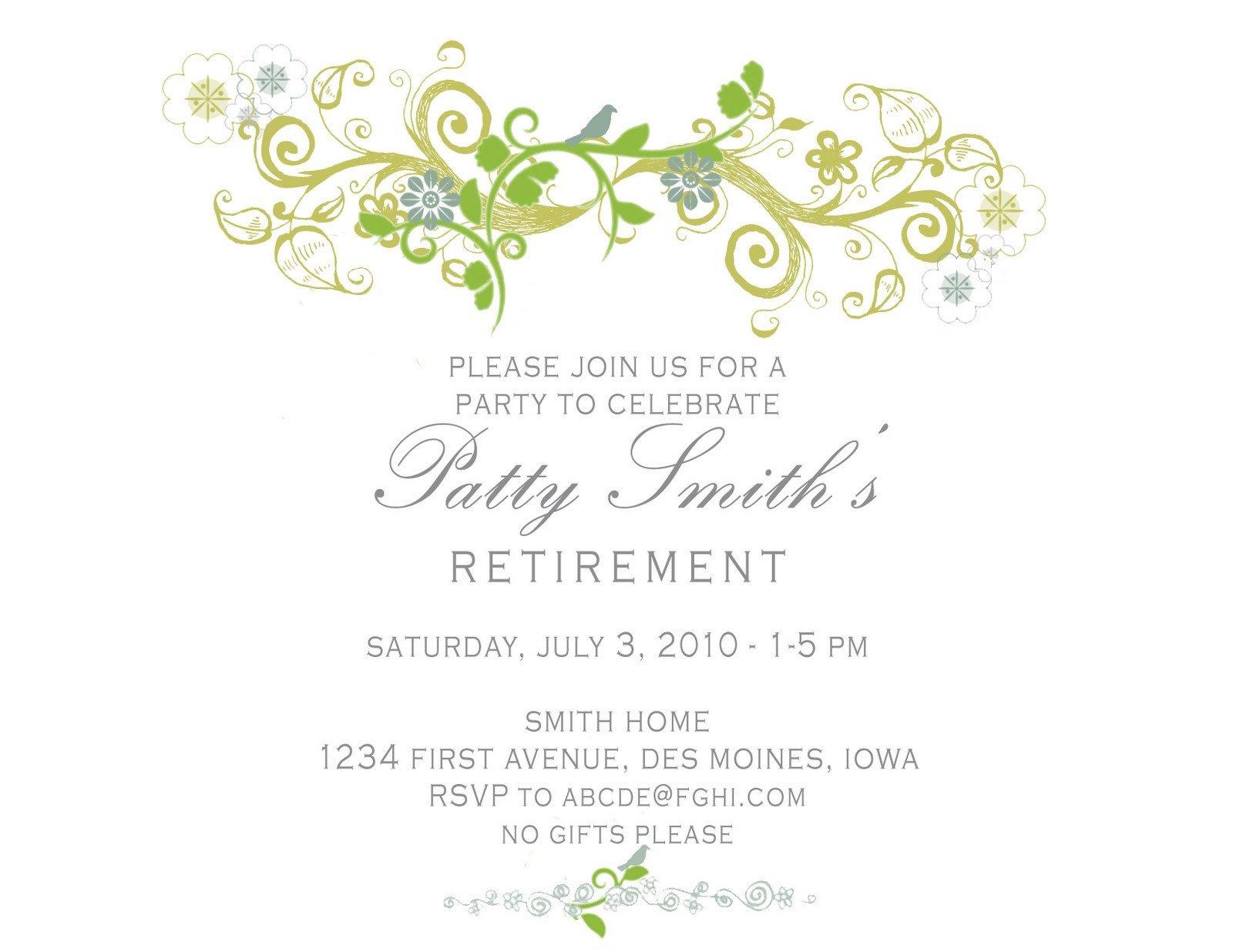 Retirement Invitation Template Free Idesign A Retirement Party Invitation