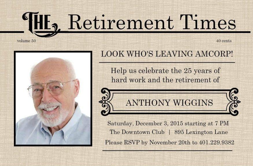 Retirement Invitation Template Free Retirement Flyer Template Free