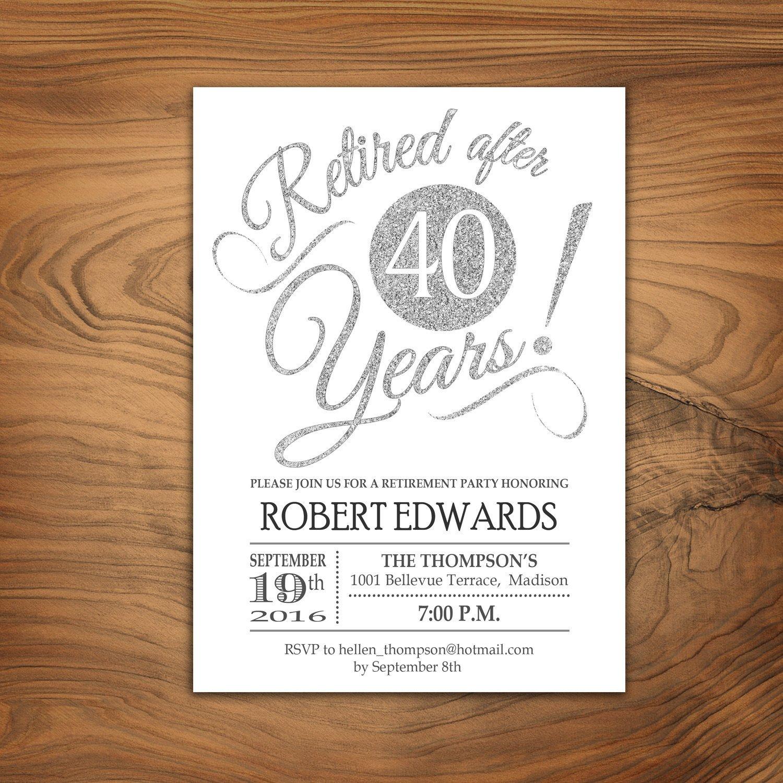 Retirement Invitation Template Free Retirement Party Invitation Retirement Invite Printable