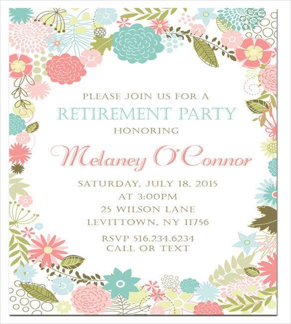 Retirement Invitation Template Free Retirement Party Invitation Template – 36 Free Psd format