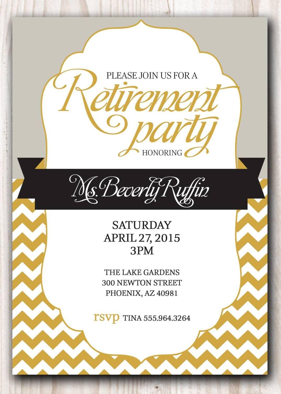 Retirement Invitation Template Free Retirement Party Invitation Template Microsoft