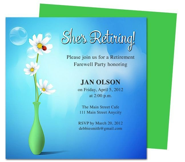 Retirement Invitation Template Free Retirement Template Free Free Retirement Flyer Template