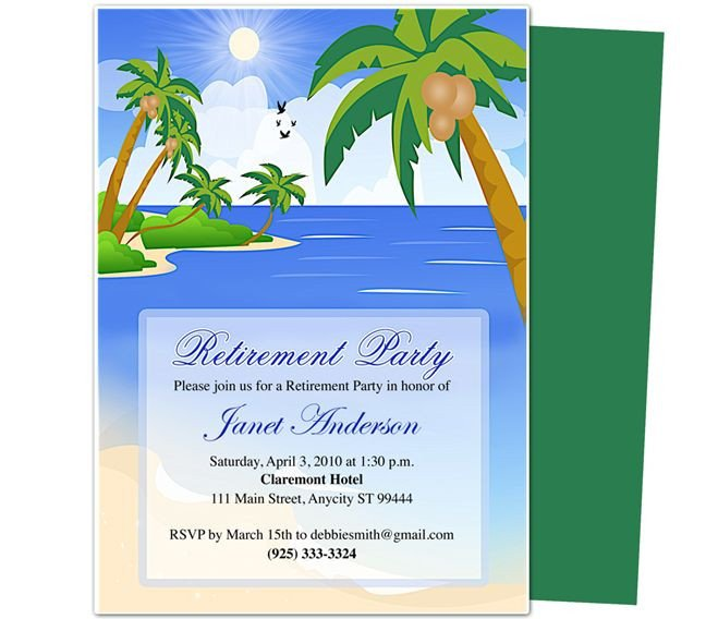 Retirement Invitation Template Free Retirement Templates Paradise Retirement Party