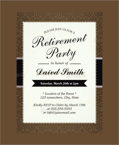 Retirement Invitation Template Free Sample Invitation Template Download Premium and Free