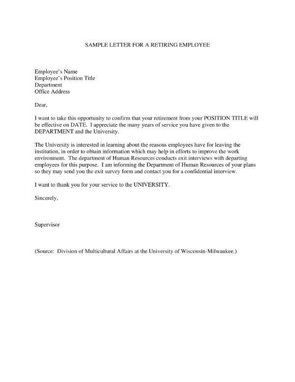 Retirement Letter to Clients 4 Sample Retirement Letter to Clients Pdf Doc