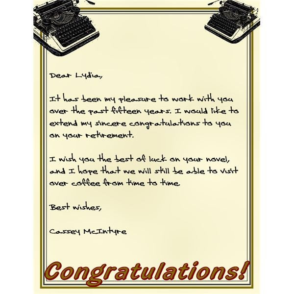 Retirement Letter to Coworkers Sample Letters for Retirement Congratulations Don T Be at