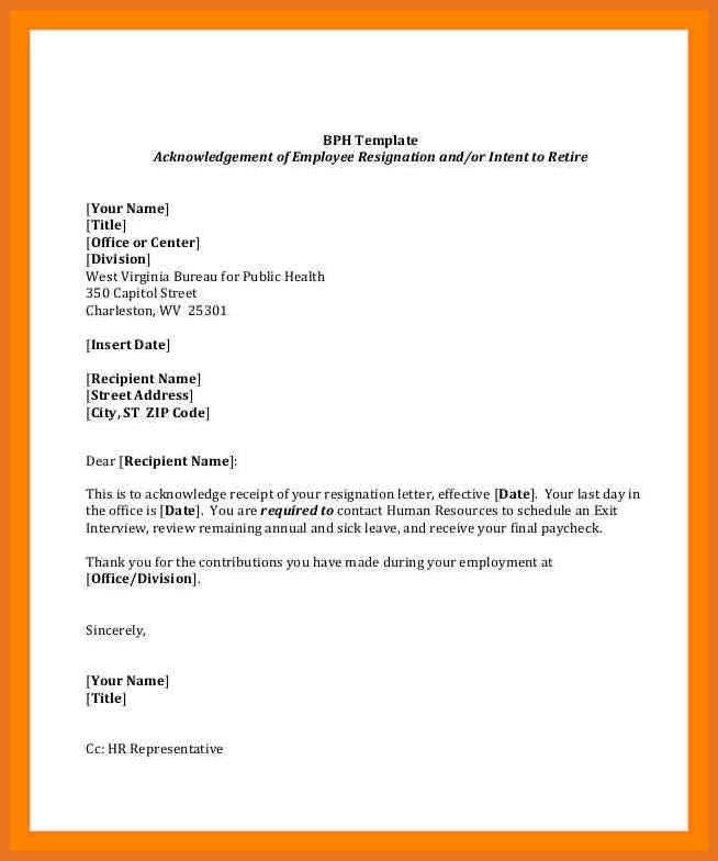 Retirement Letter to Employee 4 5 Employment Resignation Letter