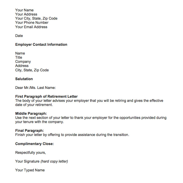 Retirement Letter to Employee Retirement Letter Samples for someone Retiring